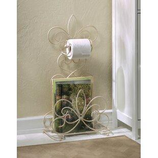 Devers Fleur De Lis Freestanding Bathroom Rack