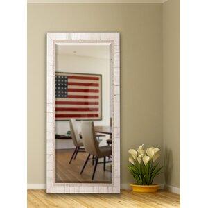 Extra Tall Ivory Wood Floor Mirror