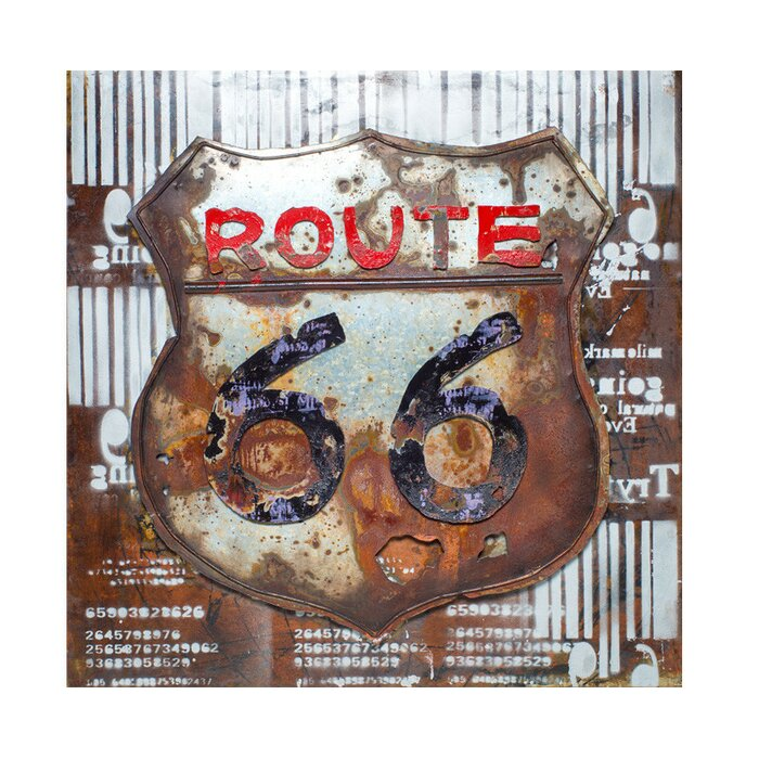 Well known Old Fashioned Route 66 Wall Decor Elaboration - Wall Painting  AN43