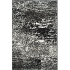 Joines Black, Silver/White Area Rug