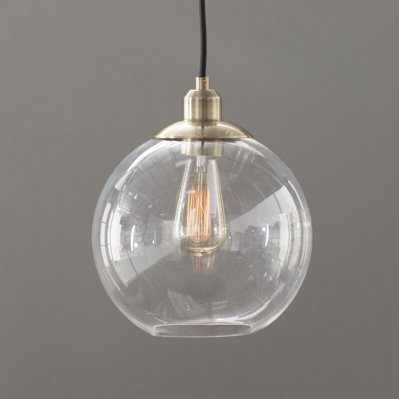 Gehry 1 Light Glass Pendant Amp Reviews Allmodern