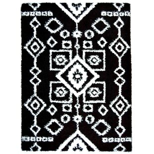 Jarne Tribal Black/White Area Rug By Union Rustic
