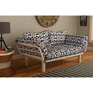 Everett Convertible Lounger in Well Rounded Futon and Mattress by Ebern De..