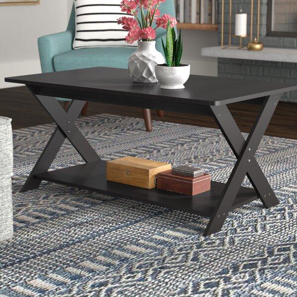 Andover Mills Spurgeon Modern Simplistic Criss Crossed Coffee Table