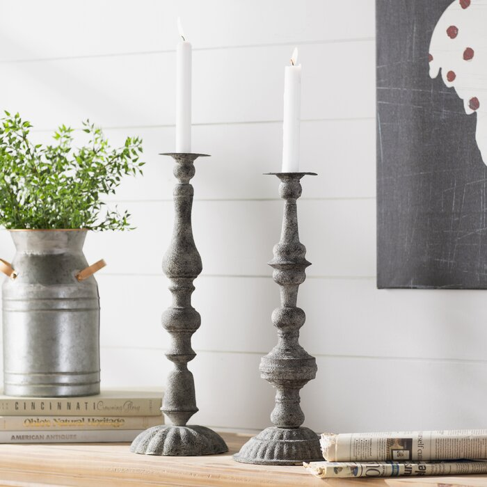 Quenell metal candlestick holders