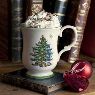 christmas tree serve romantic coffee mug