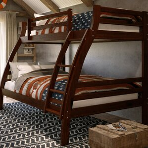 Durrell Twin Over Full Bunk Bed with Ladder by Harriet Bee