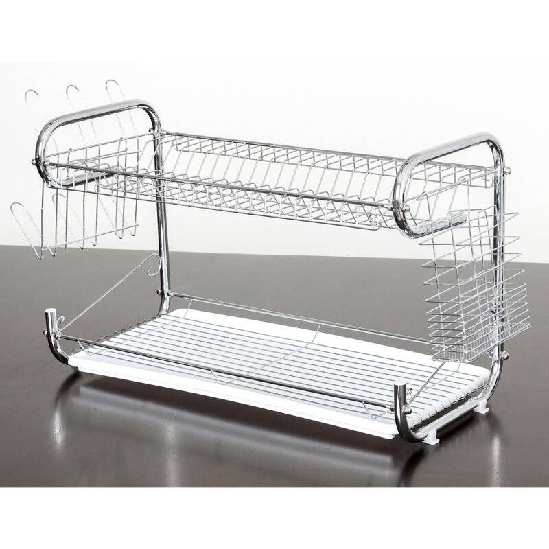048eff0de094 Imperial Home Organizer 2 Tier Holder Drainer Dish Rack | Wayfair