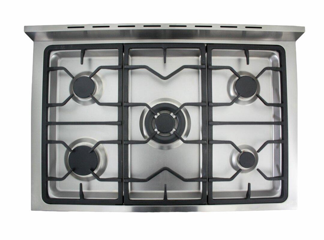 Gas Kitchen Ranges Cosmo 36 Free Standing Gas Range Reviews Wayfair