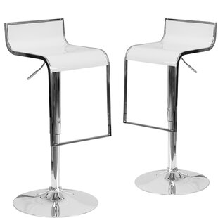 Nempnett Thrubwell Adjustable Height Swivel Bar Stool (Set of 2)
