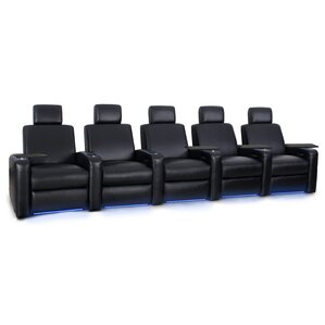 Wonderful Power Recline Leather Row Seating (Row Of 5)