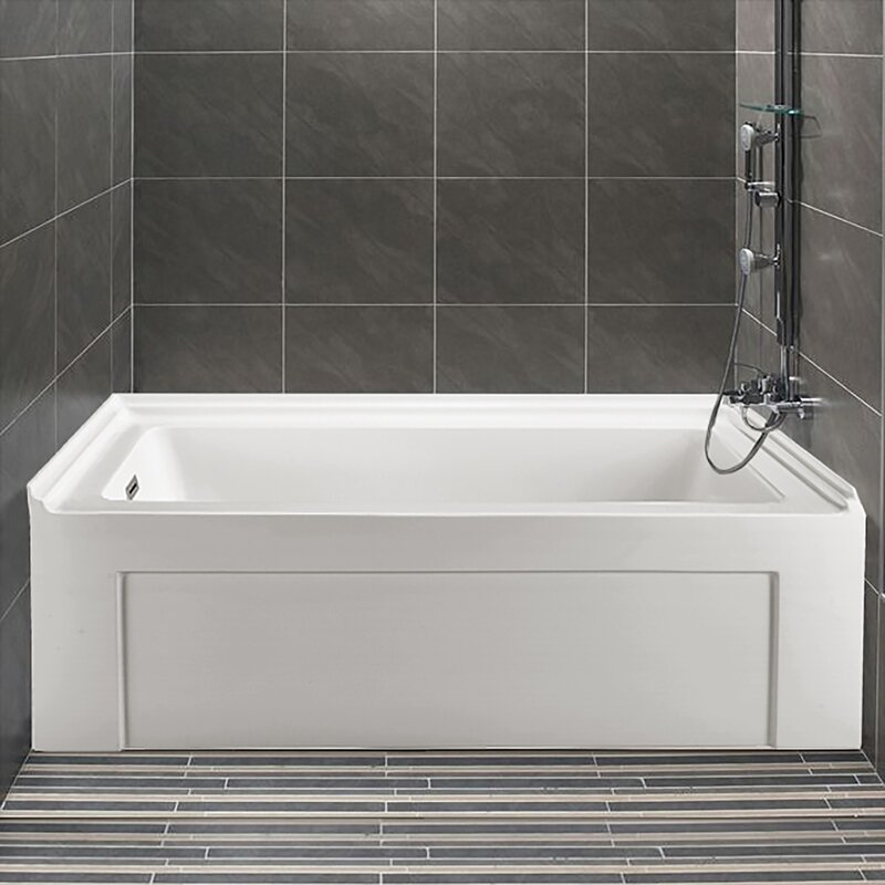"wildon home ® 60"" x 32"" alcove soaking bathtub & reviews 