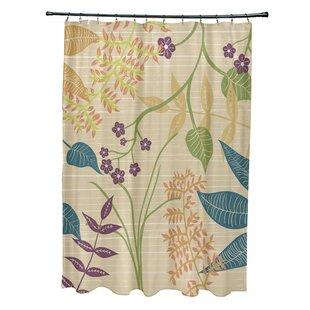 Botanical Print Shower Curtain