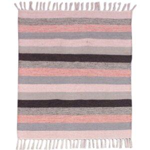 Multi Striped Pink Area Rug
