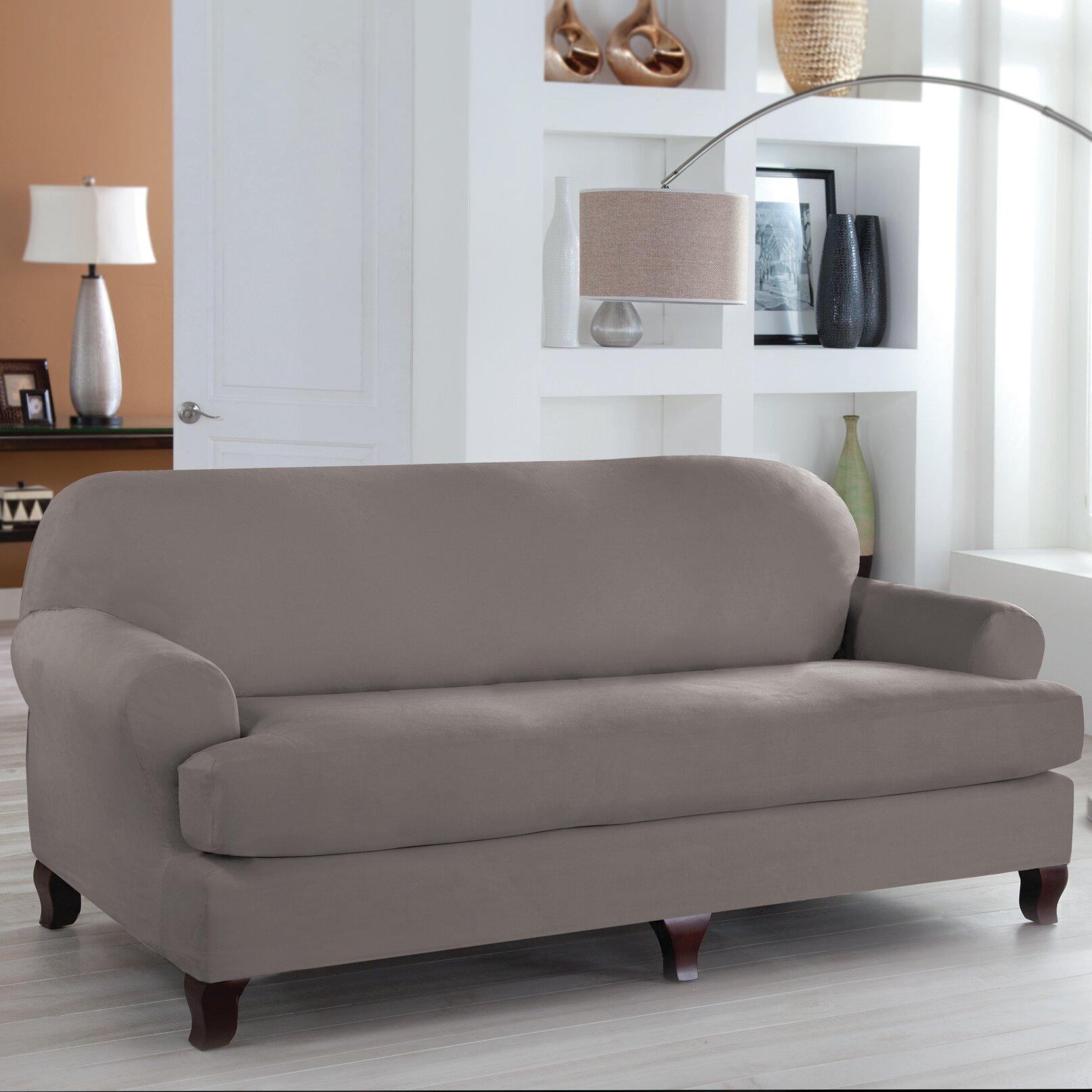 Serta Tailor Fit T-Cushion Sofa Slipcover & Reviews | Wayfair