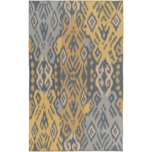 Hays Hand-Woven Teal/Gold Area Rug