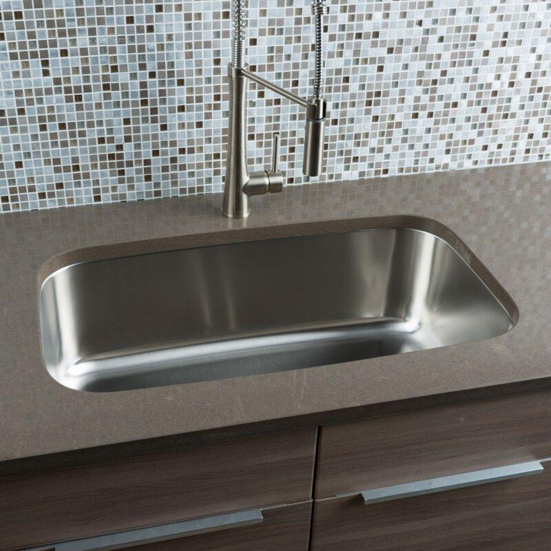 Clic Chef 31 5 X 18 38 Single Bowl Undermount Kitchen Sink