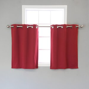Ahearn Solid Blackout Thermal Grommet Curtain Panels (Set of 2)