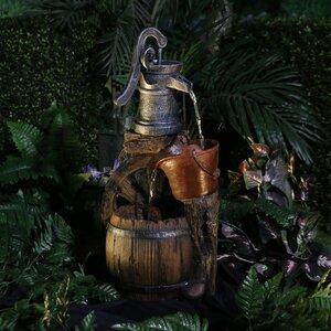 Polystone/Fiberglass Old Fashion Pump Barrel Fountain