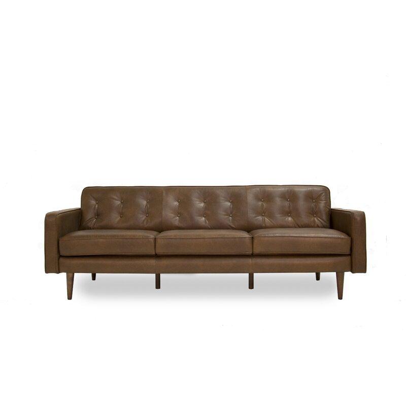 Mid Century Modern Sofas: Corrigan Studio Trevor Mid Century Modern Leather Sofa