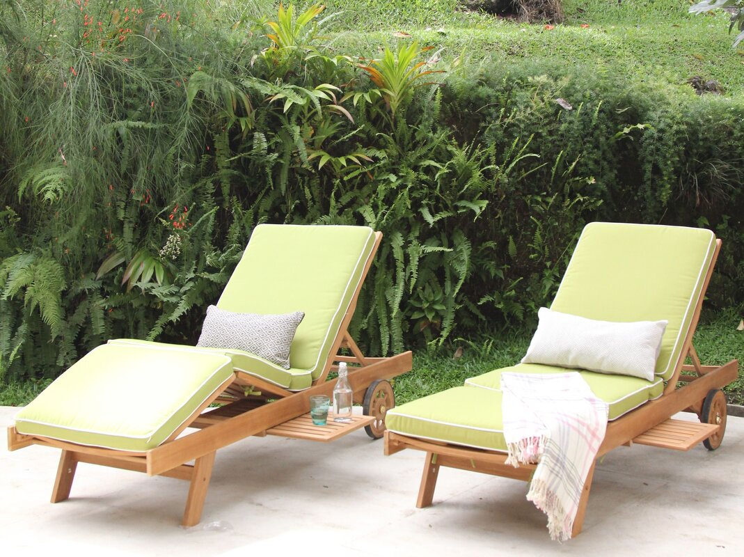 Monterey Teak Chaise Lounge with Cushion : teak chaise lounge cushions - Sectionals, Sofas & Couches