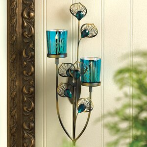 Peacock Plume Iron Sconce