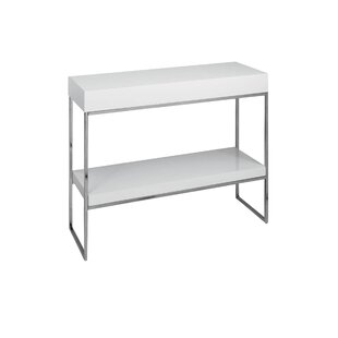 Console Table With Bookshelf