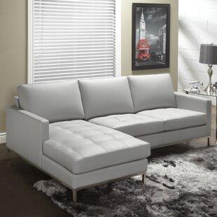 Light Gray Leather Sectional Wayfair