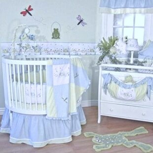 Sammy 4 Piece Round Crib Bedding Set