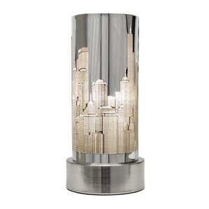 New York Skyline 24cm Touch Table Lamp
