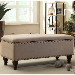 lattimer upholstered storage bedroom bench