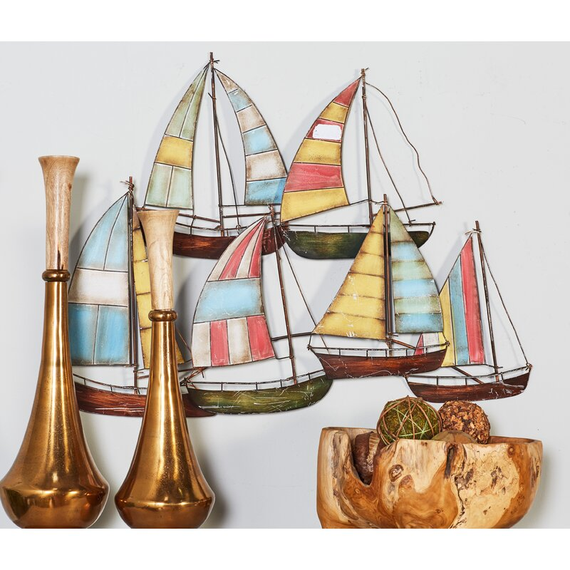 Beachcrest Home Metal Alloy Boat Wall Decor & Reviews | Wayfair