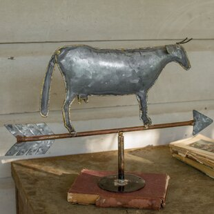Great Table Top Cow Weathervane Figurine