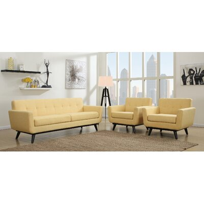 George Oliver Granata 2 Piece Living Room Set Upholstery: Mustard Yellow