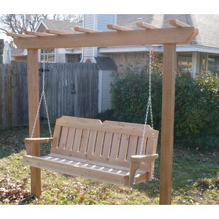 Donath Cedar Arbor Porch Swing With Stand