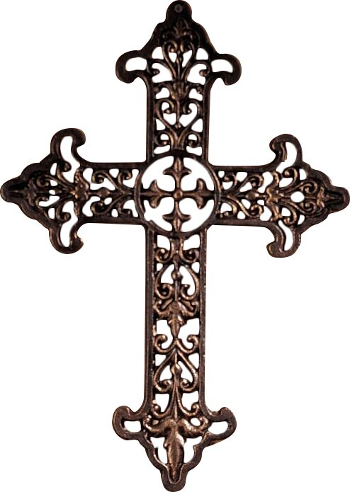 Fleur De Lis Wall Decor design toscano fleur de lis cross wall decor & reviews | wayfair