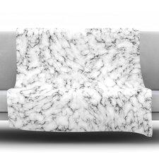 Marble Fleece Throw Blanket