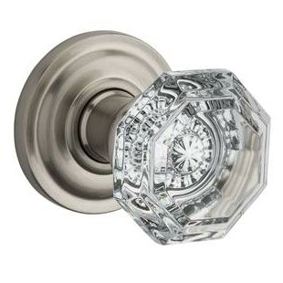 Merveilleux BaldwinCrystal Privacy Door Knob With Traditional Round Rosette
