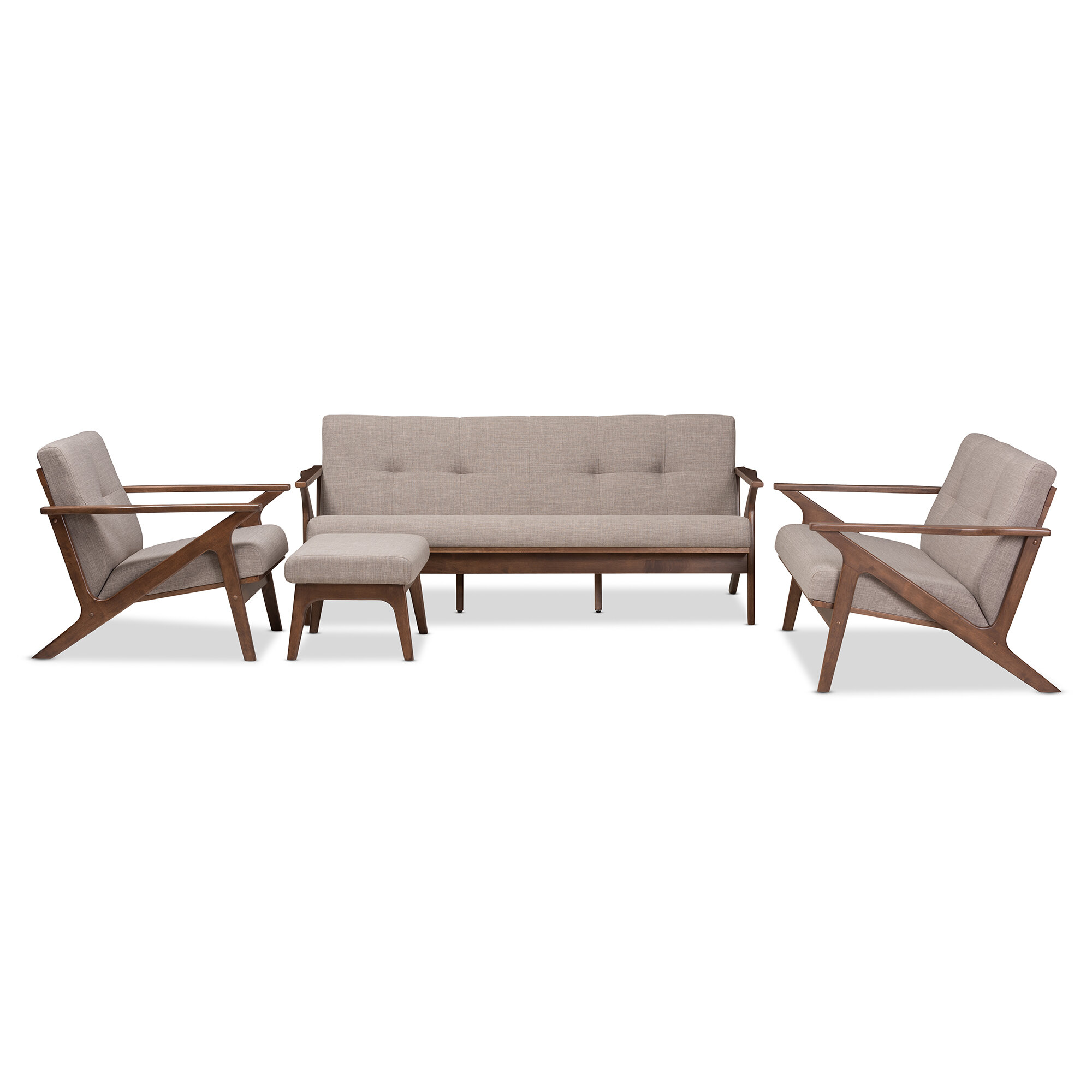Wojtala Mid-Century Modern 4 Piece Living Room Set
