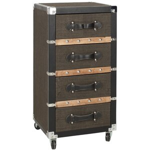 Brent 4 Drawer Rolling Accent Chest