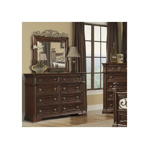 Harris 8 Drawer Double Dresser with Mirror by Klaussner Furniture