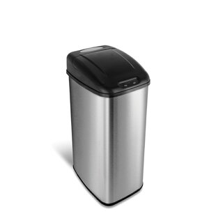 Nine Stars Stainless Steel 13 Gallon Motion Sensor Trash Can