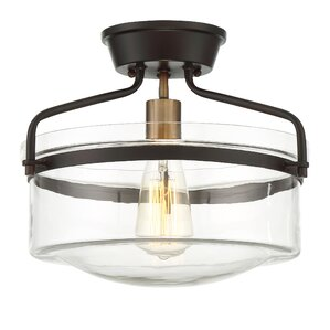 olivia 1light semiflush mount - Semi Flush Mount Lighting