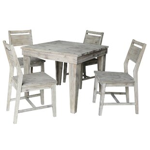 Tores 5 Piece Solid Wood Dining Set