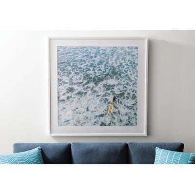 Marmont Hill 'Choppy Waters' Framed Photographic Print Size: 40 H x 40 W, Format: White Framed with Matte