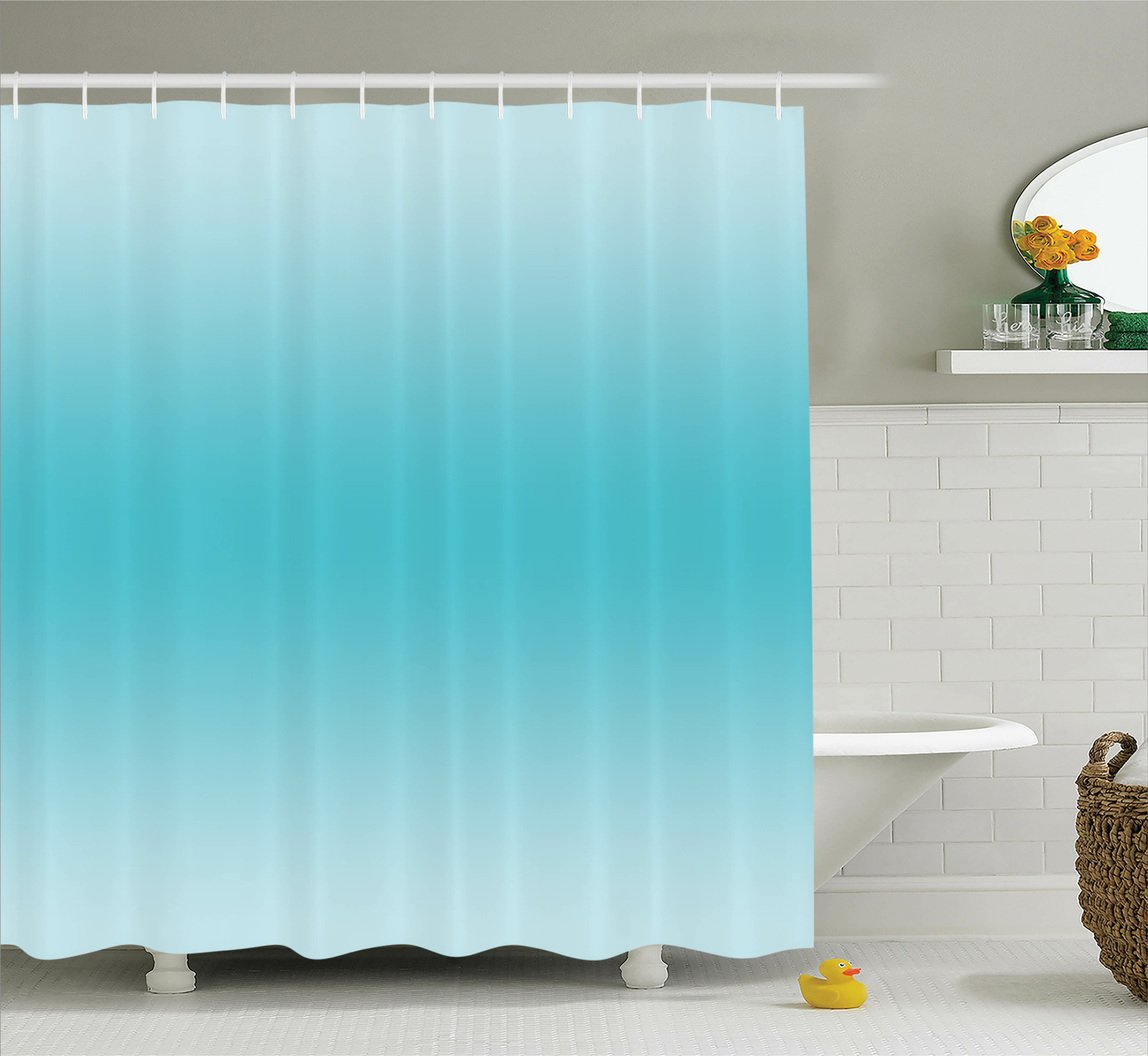 Harriet Bee Fred Tropical Aquatic Print Shower Curtain