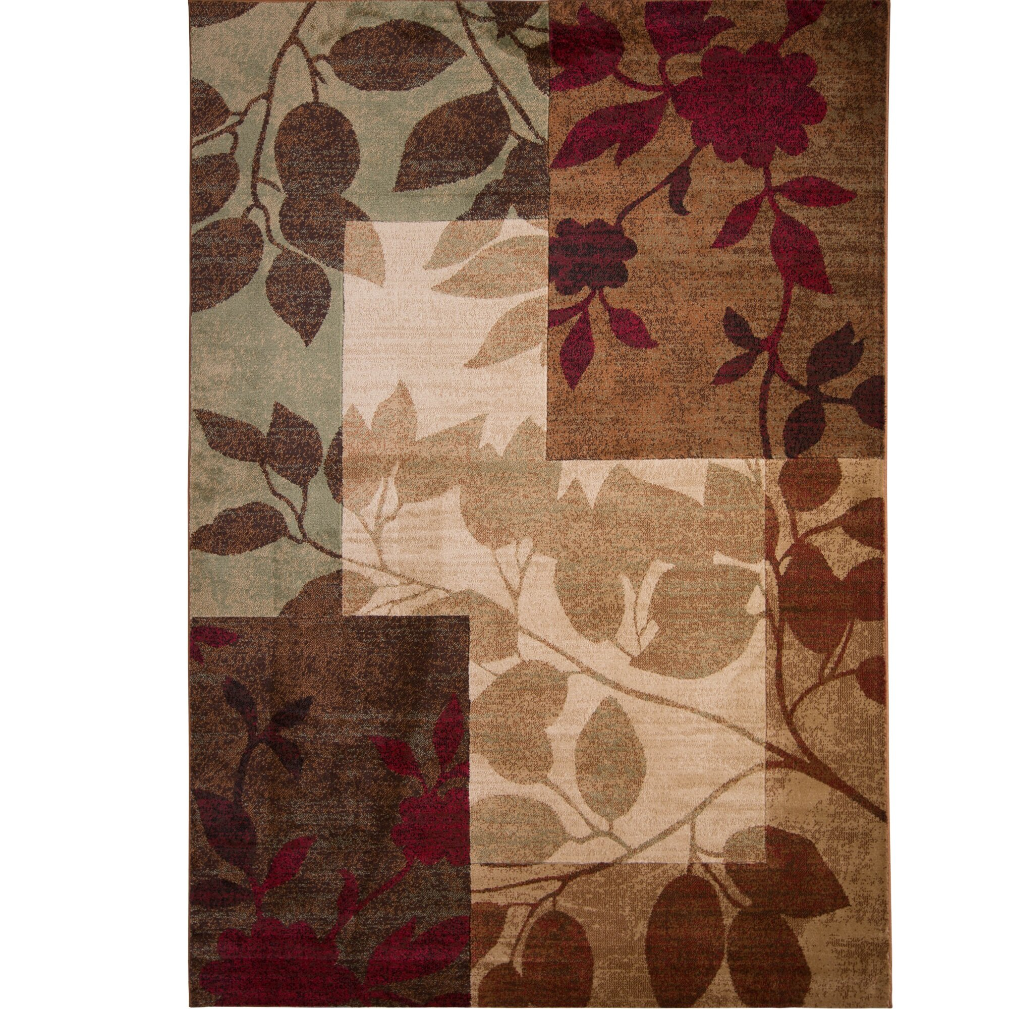 Lovely Area Rugs With Leaves | Wayfair HN97