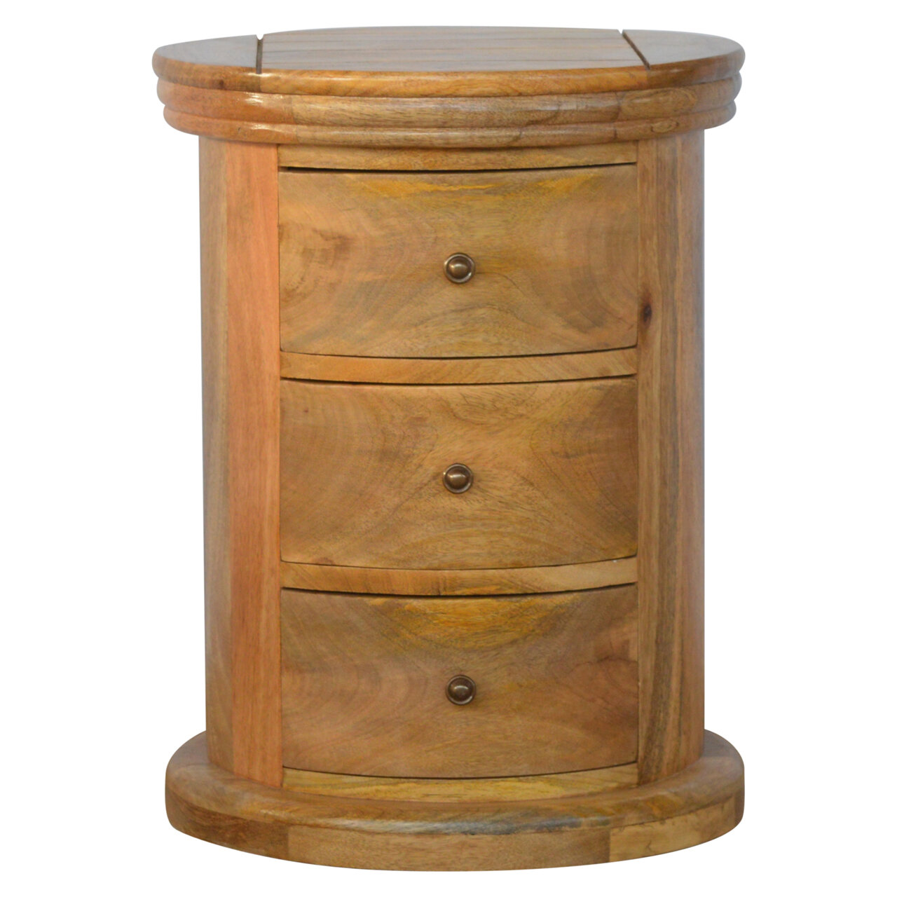 Hazelwood Home Country Style Pee Slim 3 Drawer Bedside Table Wayfair Co Uk