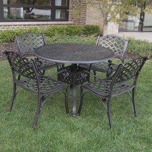 cordeiro cast aluminum 5 piece dining set - Cast Aluminum Patio Furniture
