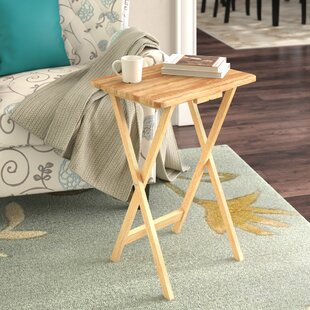 Anthem Folding Tv Tray Table With Stand Set Of 4